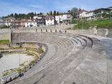 Amphitheatre at Ohrid at Lake Ohrid  UNESCO World Heritage Site  Macedonia  Europe