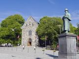 Statue of Alexander Kielland  Stavanger Cathedral  Stavanger  Norway  Scandinavia  Europe
