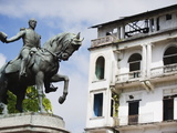 Statue of General Tomas Herrera  Historical Old Town  Panama City  Panama