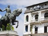 Statue of General Tomas Herrera  Historical Old Town  Panama City  Panama