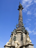 Columbus Monument in Port Vell  Barcelona  Catalonia  Spain  Europe