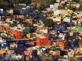 Colourful Houses  Guanajuato  Guanajuato State  Mexico  North America