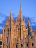 Mormon Temple on Temple Square  Salt Lake City  Utah  United States of America  North America
