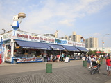 Boardwalk  Coney Island  Brooklyn  New York City  United States of America  North America