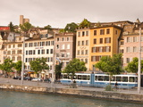 Buildings on the Limmat River  Old Town  Zurich  Switzerland  Europe