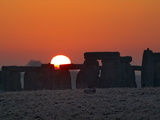 Stonehenge  UNESCO World Heritage Site  at Sunrise  Wiltshire  England  United Kingdom  Europe