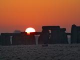 Stonehenge  UNESCO World Heritage Site  at Sunrise  Wiltshire  England  United Kingdom  Europe