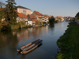 Klein-Venedig (Little Venice)  Bamberg  UNESCO World Heritage Site  Bavaria  Germany  Europe