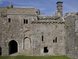 Inside Weobley Castle  Gower  West Glamorgan  Wales  United Kingdom  Europe