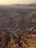 Badlands at Sunrise From Font's Point  Anza-Borrego Desert State Park  California