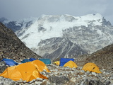 Tents at Island Peak Base Camp  Solu Khumbu Everest Region  Sagarmatha National Park  Himalayas