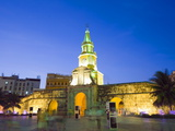Old Town City Wall and Puerto Del Reloj at Night  UNESCO World Heritage Site  Cartagena  Colombia