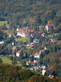 View of Village From Konigstein Fortress  Saxony  Germany  Europe