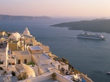 Fira  Island of Santorini (Thira)  Cyclades Islands  Aegean  Greek Islands  Greece  Europe