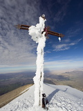 Cross on Summit of El Misti Volcano  5822M  Arequipa  Peru  South America