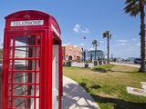Old British Telephone Call Box at the Cruise Terminal in the Royal Naval Dockyard  Bermuda