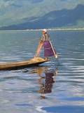Fisherman  Inle Lake  Shan State  Myanmar (Burma)  Asia