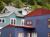 Houses in Juneau  Southeast Alaska  USA