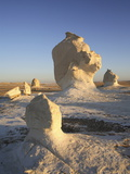 Eroded Rock Formations in the White Desert  Egypt  North Africa  Africa