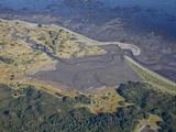 Sandy Coastline From the Air  Alaska Peninsula  Alaska  United States of America  North America
