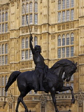 Richard the Lionheart Statue  Houses of Parliament  Westminster  London  England  Uk