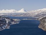 Rombakfjord From Ofoten Railway  Narvik  Nordland  Norway  Scandinavia  Europe