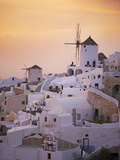 Oia (Ia) Village and Windmill  Santorini  Cyclades  Greek Islands  Greece  Europe
