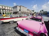 Bright Pink 1950S Classic American Car  Central Havana  Cuba