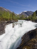 Holsbrua Waterfall  Western Norway  Norway  Scandinavia  Europe