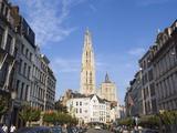 Tower of Onze Lieve Vrouwekathedraal  Built Between 1352 and 1521  Antwerp  Flanders  Belgium