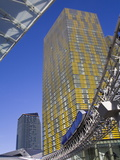 Monorail and Veer Towers at Citycenter  Las Vegas  Nevada  United States of America  North America