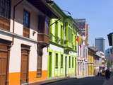 Colourful Houses  Bogota  Colombia  South America