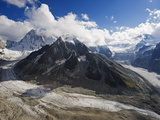 Mer De Glace Glacier  Mont Blanc Range  Chamonix  French Alps  France  Europe