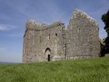 Weobley Castle  Western Face  Gower  West Glamorgan  Wales  United Kingdom  Europe
