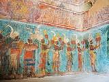 Murals at Bonampak Mayan Ruins  Chiapas State  Mexico  North America