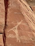 Flute Player Pictograph  Honanki Heritage Site  Coconino National Forest  Arizona