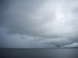 Storm Clouds Settle Over the Puget Sound  Washington State  United States of America  North America
