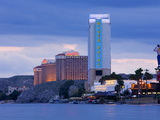 River Palms and Harrah's Casinos on the Colorado River  Laughlin City  Nevada  USA