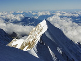 Aiguille De Bionnassay  4052M  From Mont Blanc  Chamonix  French Alps  France  Europe
