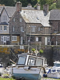 Boats in Harbour  Porlock Weir  Somerset  England  United Kingdom  Europe