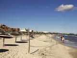 Beach Scene in the Tourist Zone on the Mediterranean Sea  Sousse  Gulf of Hammamet  Tunisia