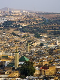 Elevated View Over the Medina  Fez (Fes)  Morocco  North Africa  Africa