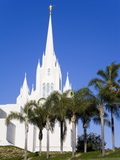 Mormon Temple in La Jolla  San Diego County  California  United States of America  North America