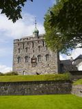 Rosenkrantztarnet Tower  Bryggen  UNESCO World Heritage Site  Bergen  Hordaland  Norway