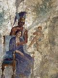 Fresco of Venus Seduced By Mars With Cupid and Maid  House of Punished Love From Pompeii