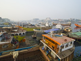 View Over the Wharf of Dhaka  Bangladesh  Asia