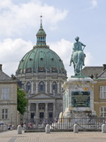 Frederik's Church From the Inner Courtyard of the Amalienborg Palace  Copenhagen  Denmark