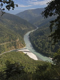 The Tista River Flowing Through Sikkim  India  Asia