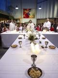Maundy Thursday Eucharist Celebration in a Catholic Church  Paris  France  Europe