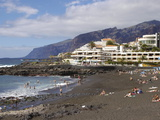 Playa De La Arena  Puerto De Santiago  Tenerife  Canary Islands  Spain  Atlantic  Europe